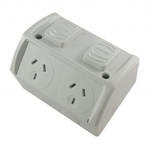 Weatherproof Double GPO Integrated Connection 10A 250V AC IP53
