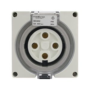 IP66 Socket Outlet 32A 500V AC 4 Pin