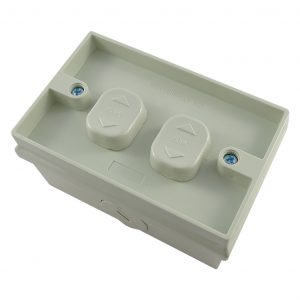 Insert variable 2 Gang Weatherproof Surface Switch 16A 250V AC IP53