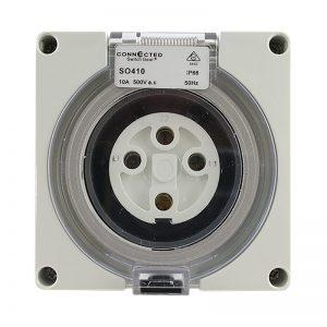 IP66 Socket Outlet 10A 500V AC 4 Pin