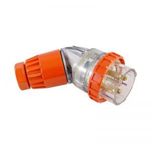 Angled Plug 32A 5 Pin 500V AC IP66