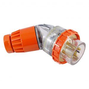 Angled Plug 50A 5 Pin 500V AC IP66