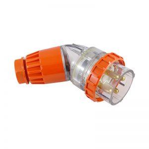 Angled Plug 40A 4 Pin 500V AC IP66