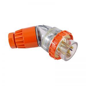 Angled Plug 10A 5 Pin 500V AC IP66
