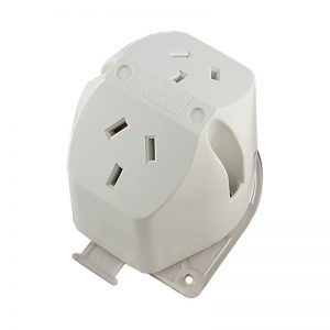 Double Surface Socket with Loop 10A 250V AC