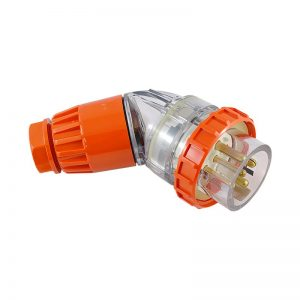 Angled Plug 20A 5 Pin 500V AC IP66