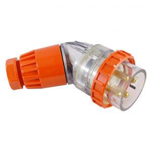 Angled Plug 32A 4 Pin 500V AC IP66