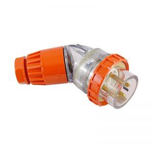 Angled Plug 10A 4 Pin 500V AC IP66