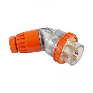 Angled Plug 20A 4 Pin 500V AC IP66