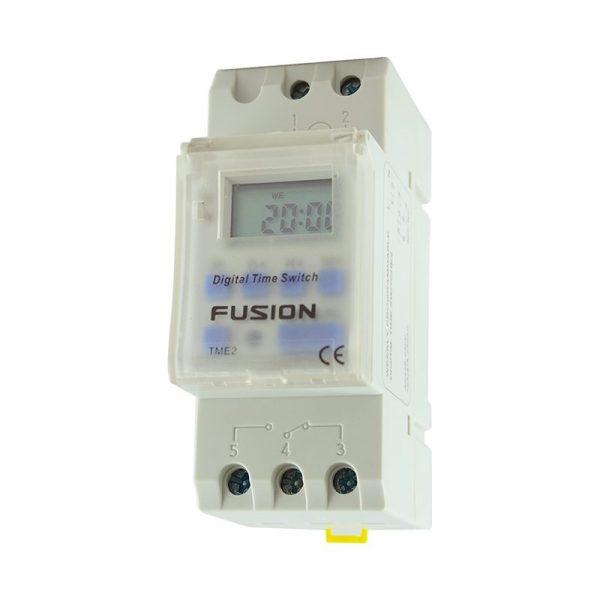electronic din rail mount timer