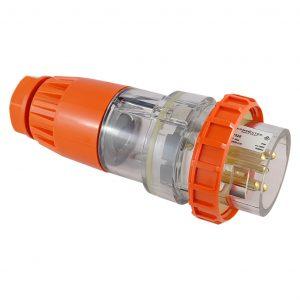 Straight Plug 20A 5 Pin 500V AC IP66