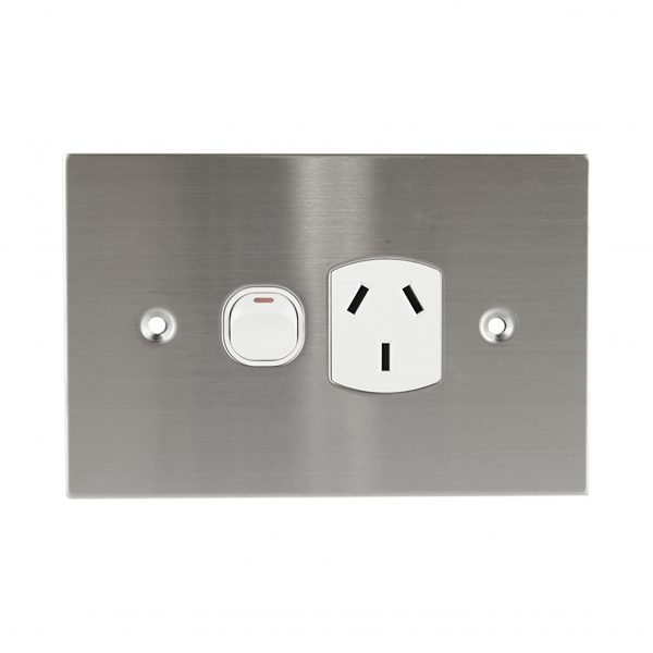 Stainless Steel GPO Single 10A 250V AC | PLATINUM Series
