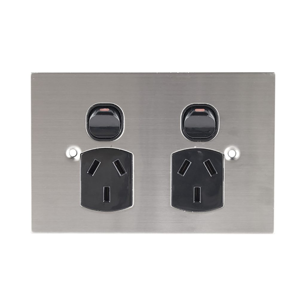 Buy A Double Power Outlet Black Online In Australia From