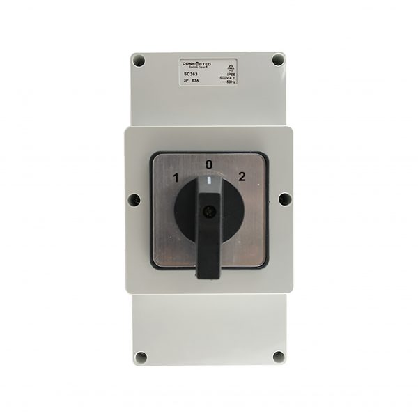 63A Changeover Switch 3 Pole 500V AC IP55