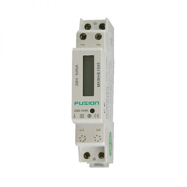 kwh meter single phase 1 pole din rail mount