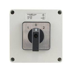 20A Changeover Switch 3 Pole 500V AC IP55