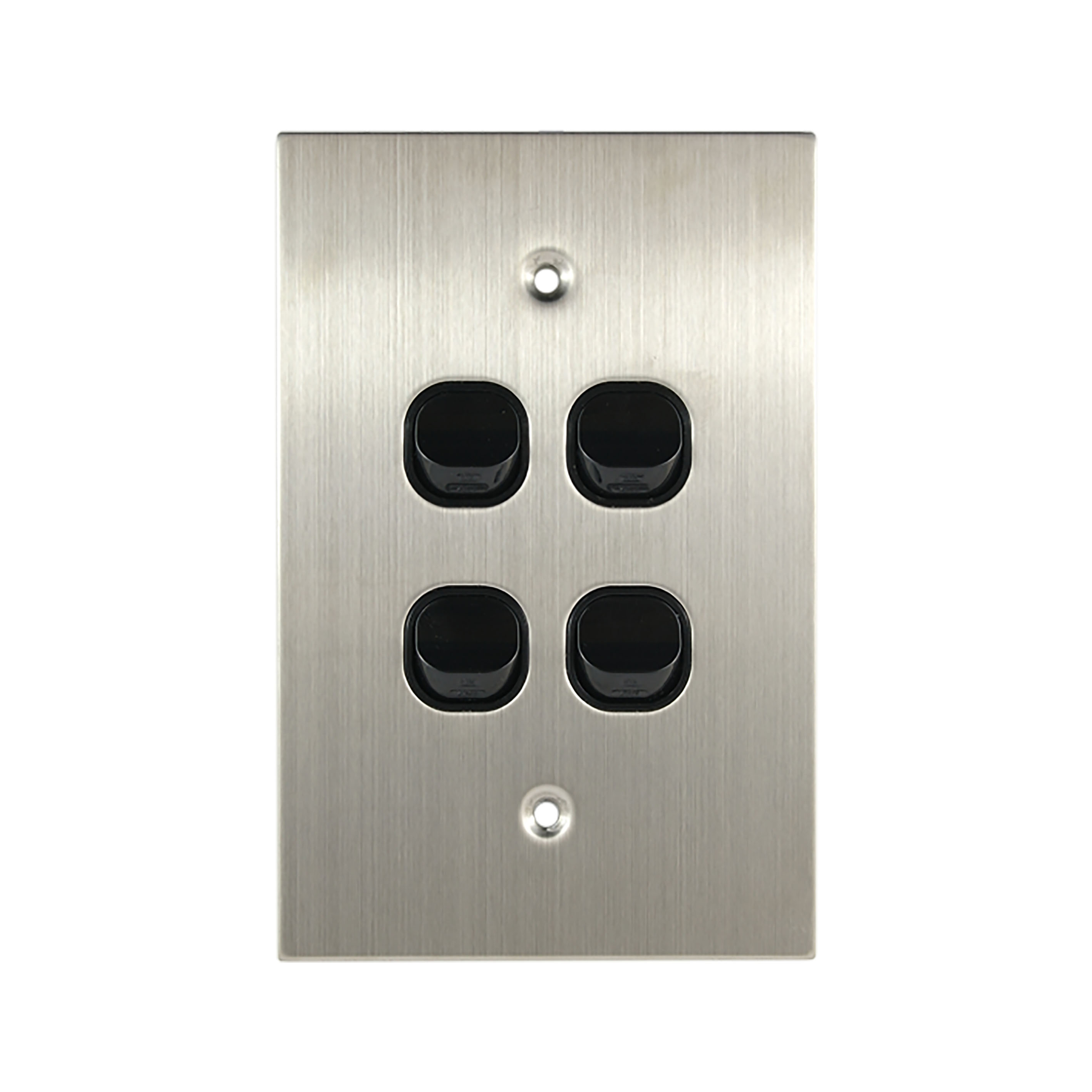 Buy a Light Switch Vertical 4 Gang - BLACK Online in Australia from ...