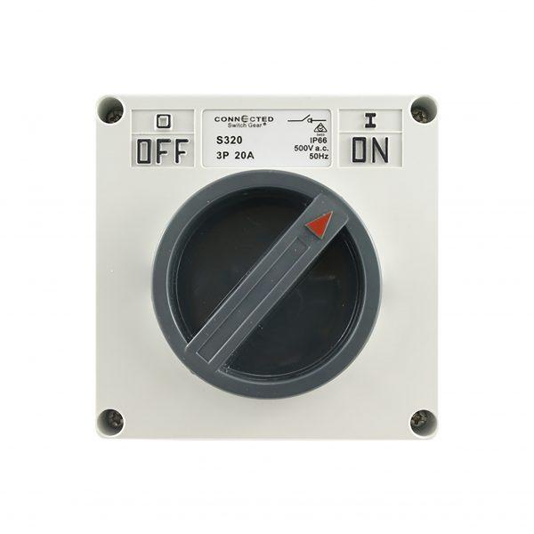 Surface Switch 20A 3 Pole 500V AC IP66