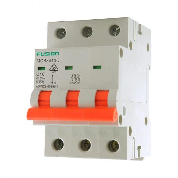 10a 3 pole circuit breaker 4.5ka mcb3410c