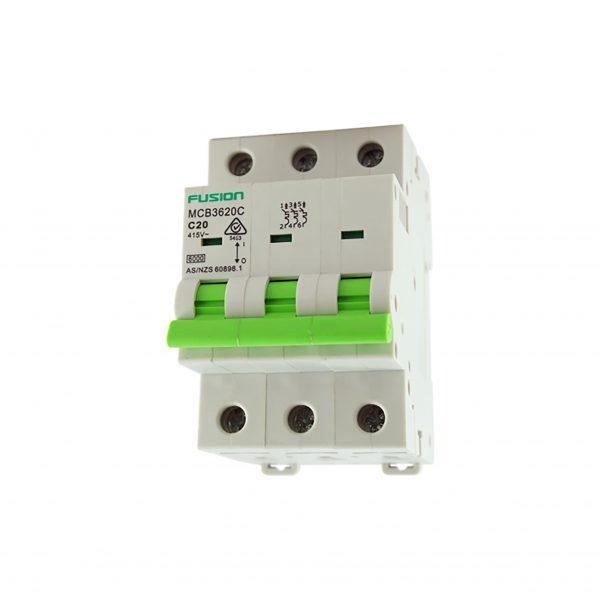 32A 3 Pole Circuit Breaker 6kA C Curve mcb3632c