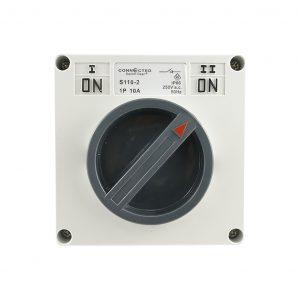 Surface Switch 10A 1 Pole 1/2 Way 250V AC