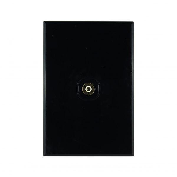 TV Plate PAL Type Screw Fix Solderless BLACK