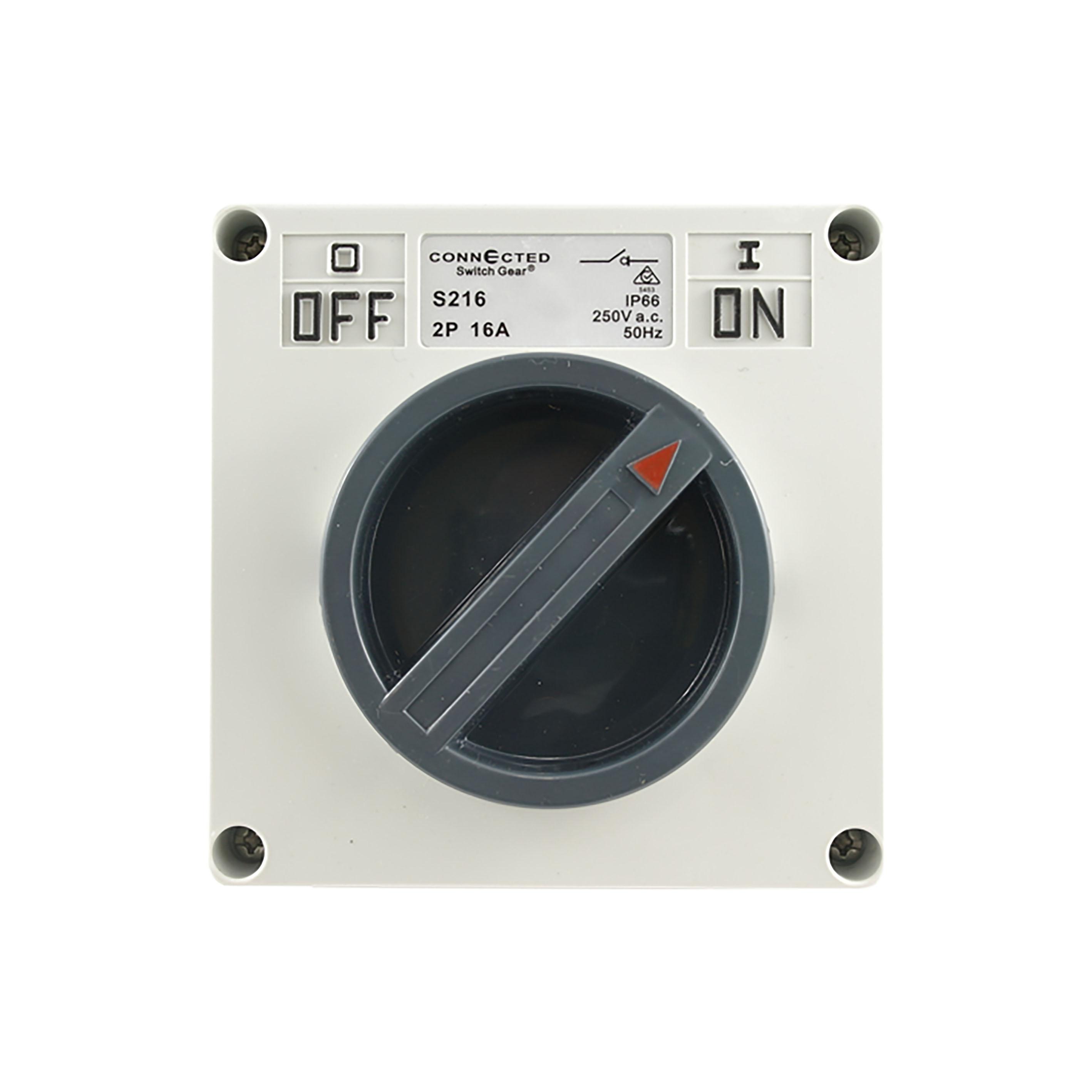 Surface Switch 16A 2 Pole 250V AC