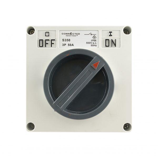 Surface Switch 50A 3 Pole 500V AC IP66