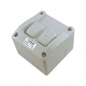 2 Gang Weatherproof Switch New Style 16A 250V AC IP53