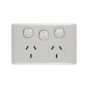 Double GPO with Extra Switch 10A/16A 250V AC | BASIX Series