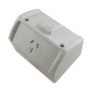 Single Weatherproof GPO 15A 250V AC IP53
