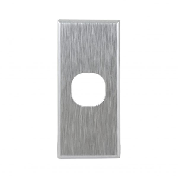 Brushed Aluminium Cover Plate 1 Gang Architrave | Suits GEO Series