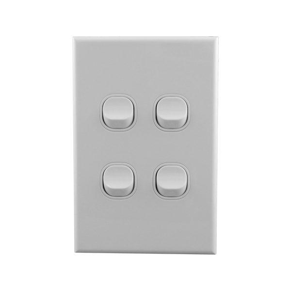 Light Switch 4 Gang 10amp 250V AC BASIX S