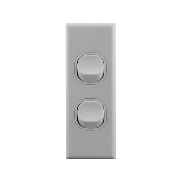 Architrave Switch 2 Gang 16A | BASIX S Series