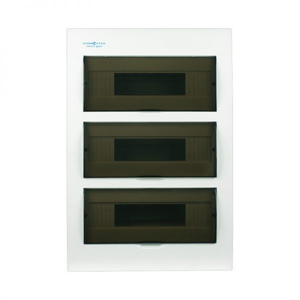 36 pole flush mount distribution board