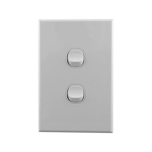 Light Switch 2 Gang 10amp 250V AC BASIX S