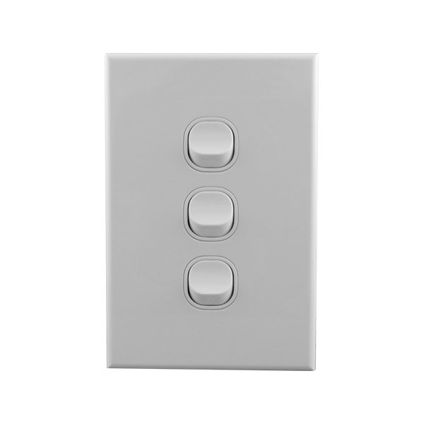 Buy A Light Switch 3 Gang Vertical Online In Australia From