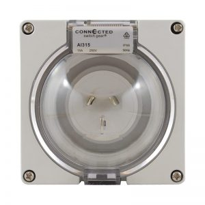 Appliance Inlet 3 Pin 10A 250V AC IP66