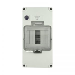4 Pole Weatherproof Enclosure with Neon Indicator IP66