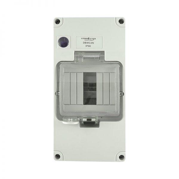 4 Pole Weatherproof Enclosure with Neon Indicator IP66