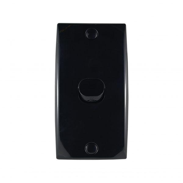 Intermediate Switch Plate 1 Gang BLACK 10A 250V AC 78mm Mounting