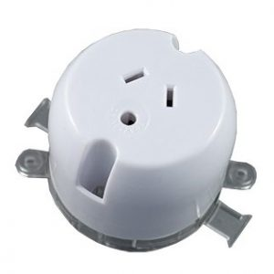 Round Earth Plug Base 10A 250V AC