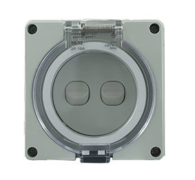 IP66 2 Gang Surface Switch 1 Pole 10A 250V AC