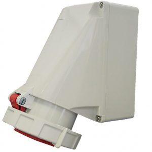 IP67 Wall Socket 63A 5 Pin 400V
