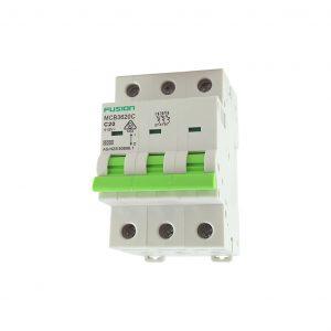 20A 3 Pole Circuit Breaker 6kA D Curve mcb3620d