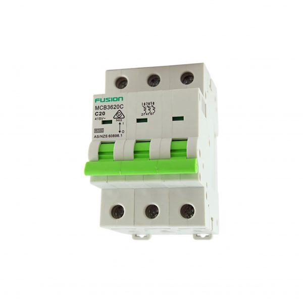 50a 3 pole 6ka d curve circuit breaker
