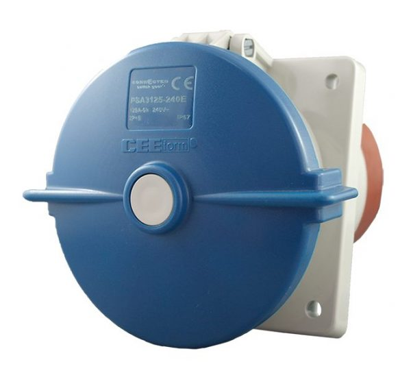 CEE Form Socket Angled Panel 3 Pin 125A 240V