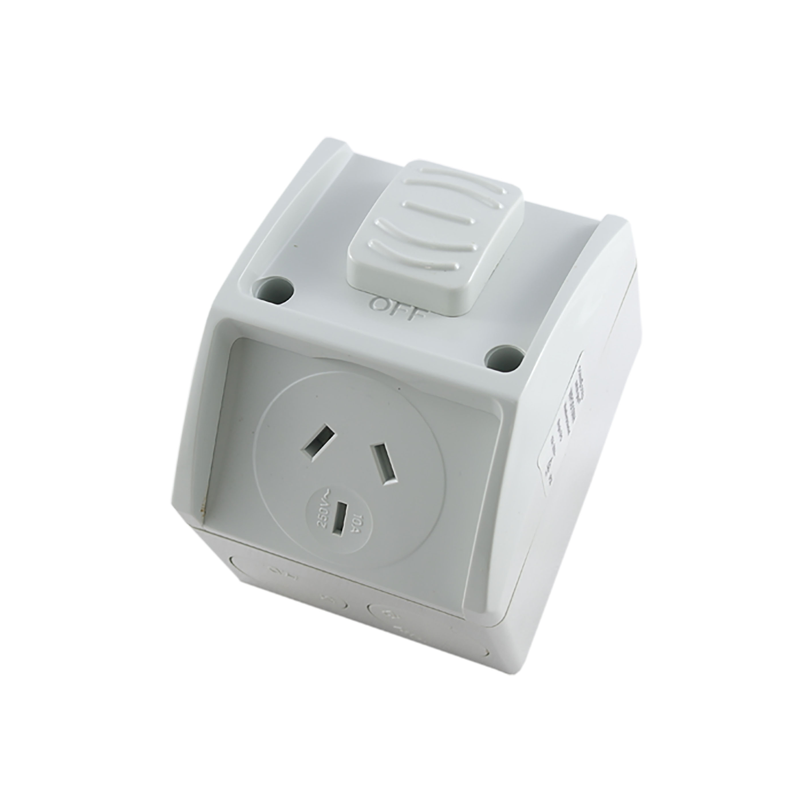 Buy A Single Weatherproof Socket Outlet 10a New Style Online In Australian Power Cords Electrical Plug And Plugs