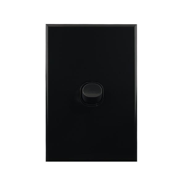 Light Switch 1 Gang BLACK 10amp 250V AC BASIX S Series