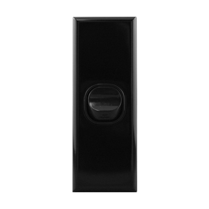 Architrave Switch 1 Gang 16A Black | BASIX S Series